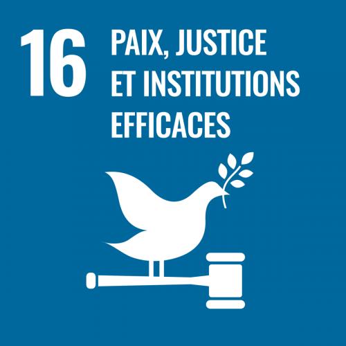 Promouvoir l'avènement de sociétés pacifiques et ouvertes à tous aux fins du développement durable, assurer l'accès de tous à la justice et mettre en place, à tous les niveaux, des institutions efficaces, responsables et ouvertes à tous